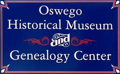 Oswego Museum and Genealogy Center Sign